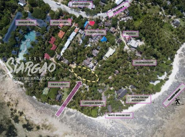 700 sqm and 300sqm and 400 sqm Lot For Rent in Catangnan General Luna Siargao near Harana Resort