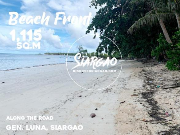 1,115 sqm Beach Front For Sale in General Luna Siargao