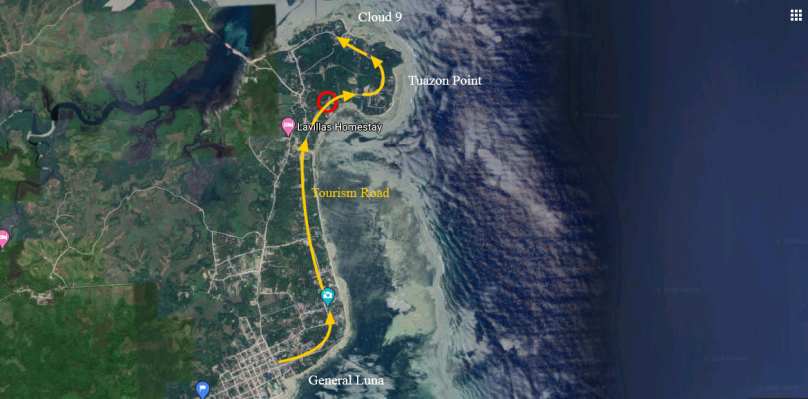 1,000 sqm Roadside Commercial Lot For Lease near Cloud 9 General Luna Siargao
