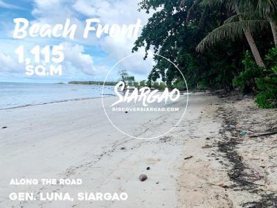 1,115 sqm Beach Front For Sale in General Luna Siargao